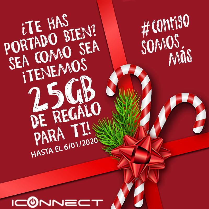 Estas Navidades llévate 25GB extras de regalo en tu tarifa.